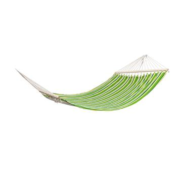 Stylish Printing Style Hammock Beach Swing Double Beds for Outdoor Camping Travel Green