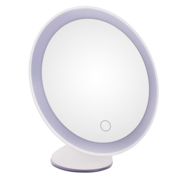 11LED Magnifying Glass Makeup Lamp 10X Times Magnifying Glass Surface 360 Degree Universal Shaft Touch Switch White (Without Battery, 4*AAA Required)