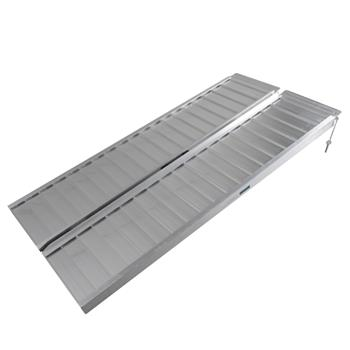 5ft Two-section Wheelchair Ramps Silver