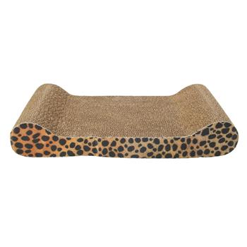 Harden Corrugated Paper Pet Cat Toy Cat Sofa Flat Claws Grinding Board with Catnip (Small Size) Eart