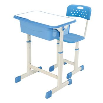 Adjustable Student Desk and Chair Kit Blue