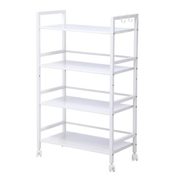 Widen 4 Tiers Multi-functional Storage Cart Ivory White