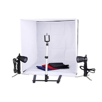 Kshioe 60cm Shelves Mini Studio Set Black & White & Red & Blue UK