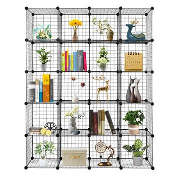 20-Cube Organizer Cube Storage Storage Shelves Wire Cube Storage Origami Shelves Metal Grid Multifunction Shelving Unit Modular Cubbies Organizer Bookcase