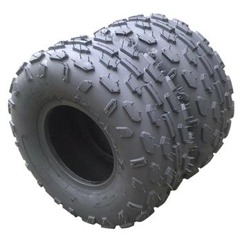 Pair of ATV Go Kart Tires 145/70-6 Rated Black rubber Depth: 5 mm
