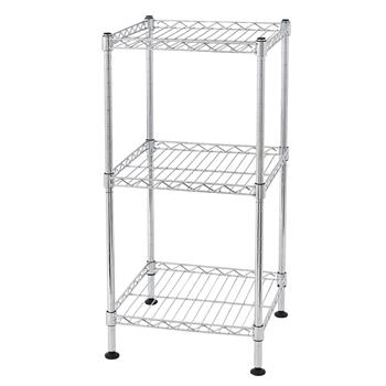 3-Tier Steel Wire Shelving Tower
