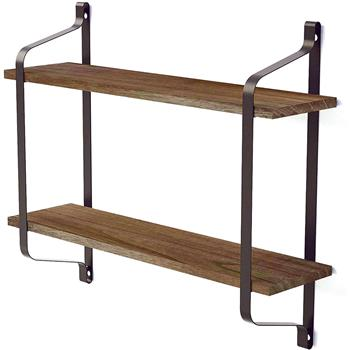 2 Tiers Floating Shelves Wall Mounted Industrial Wall Shelves for Living Room Bedroom Kitchen Entryway Wood Storage Shelf, Vintage