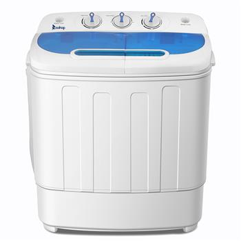 ZOKOP XPB46-RS4 13Lbs Semi-automatic Twin Tube Washing Machine US Standard White & Blue