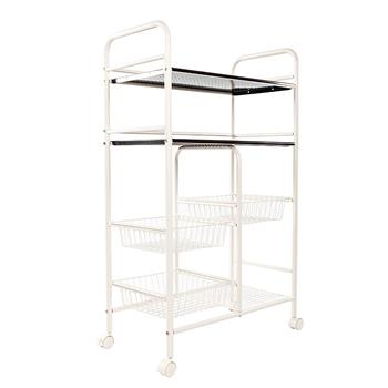 Cannes Double Row Mesh Basket Multi-functional Kitchen Cabinet Coffer Color