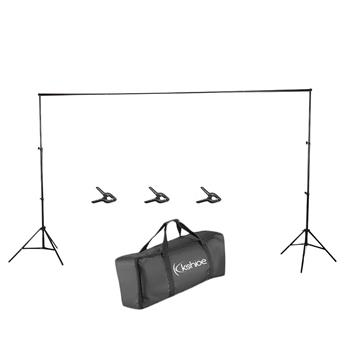 Kshioe 2*3M Backdrop Support Stand Set   3 Fish Mouth Clips Black(Do Not Sell on Amazon)