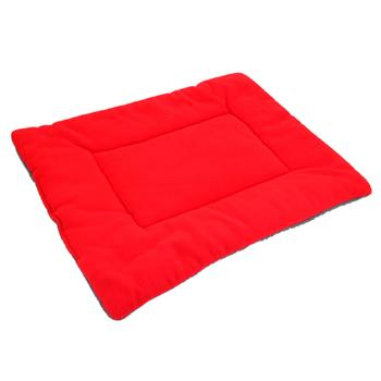 Washable Soft Comfortable Cotton Fiber Bed Pad Mat Cushion for Pet Red XL