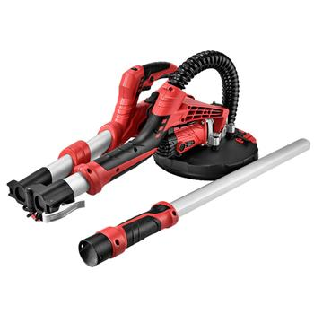 750W Stretchable Drywall Sander Kit with LED Lamp US Plug Red