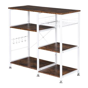 3-Tier Industrial Kitchen Baker's Rack Utility Microwave Oven Stand Storage Cart Workstation Shelf