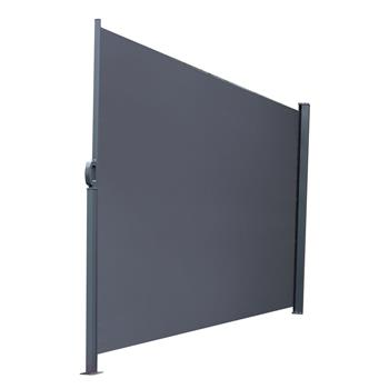 Outdoor Aluminum Handle Pentacle Side Pull Shed Office Partition Cafe Terrace Windshield Isolation Canopy  Dark Gray