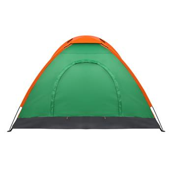 2-Person Waterproof Camping Dome Tent for Outdoor Hiking Survival Orange & Green