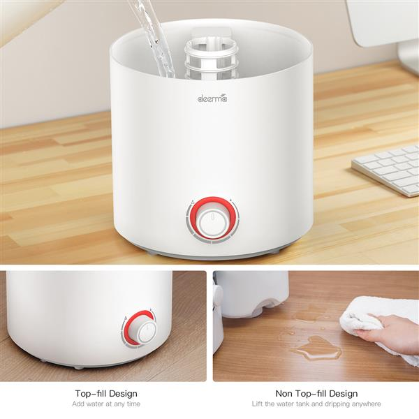 Ban on Amazon platform salesDEERMA 2 in 1 Top Fill Ultrasonic Humidifier & Essential Oil Diffuser with 360° Rotatable Mist Outlet, 2.5L Water TankVolume