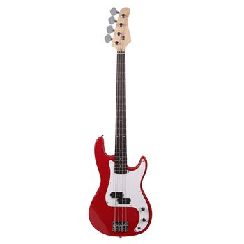 Exquisite Burning Fire Style Electric Bass Guitar Red