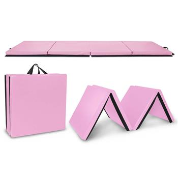 "4""*10""*2"" Four-Folded Gymnastic Mat Pink"