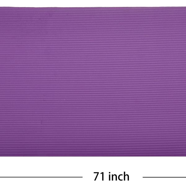 BalanceFrom GoCloud All-Purpose 1-Inch Extra Thick High Density Anti-Tear Exercise Yoga Mat with Carrying Strap, Purple