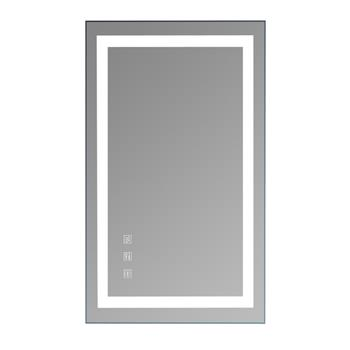 """Square Touch LED Bathroom Mirror, Tricolor Dimming Lights40*24"""""""