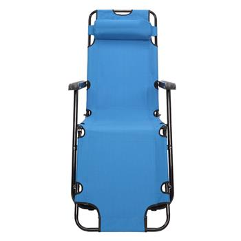 RHC-202 Portable Dual Purposes Extendable Folding Reclining Chair Blue