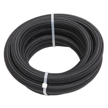 10AN 10-Foot Universal Stainless Steel Braided Fuel Hose Black