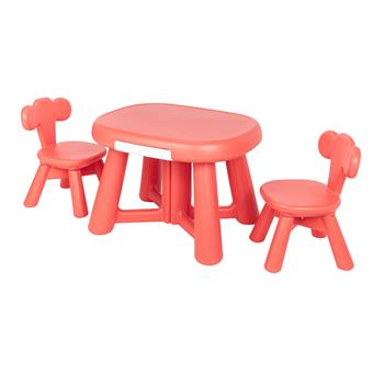 Furniture Plastic Table and 2 Chair Set for Kids
