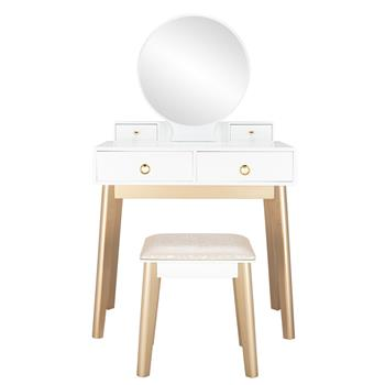 Bedroom Light Luxury Real Wood Dressing Table Simple Makeup Table Without Lamp