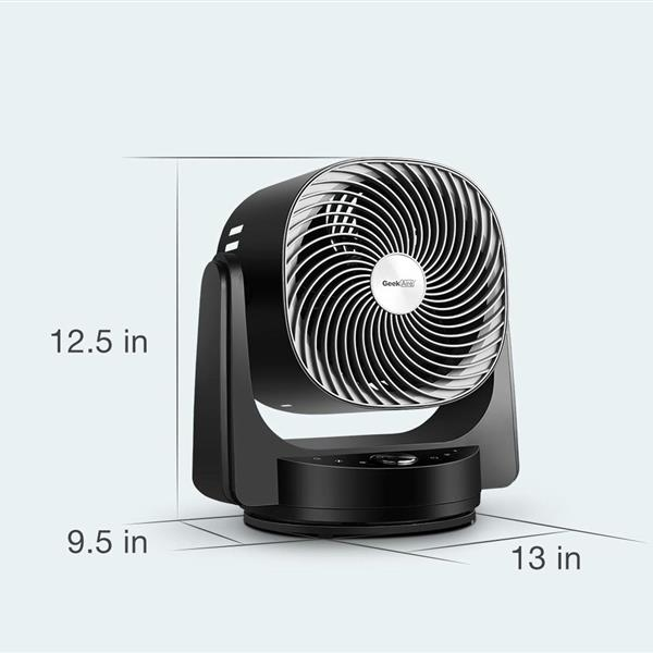 Ban on Amazon platform salesGeekAire Fan, Air Circulator Cooling Fan Compatible with Alexa and Google, High Velocity 3D Oscillating Fan with 4 Speeds, 6h Timer, AI Mode, Black