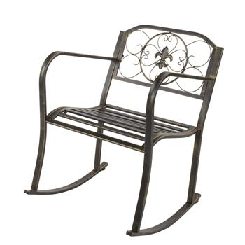 Flat Tube Single Rocking Chair Bronze Color