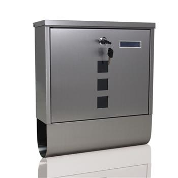 Durable Stainless Steel Mailbox Silver