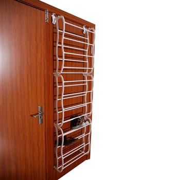 12 Layers Wall-mounted Style Home Shoe Rack White