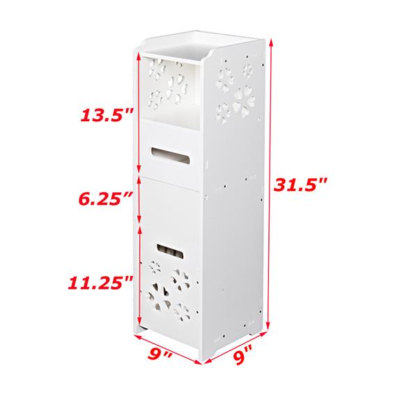Ban on Amazon-Walmart platform salesKtaxon Bathroom Storage Shelf 3-tier Bathroom Storage Cabinet with Trash Can (White)