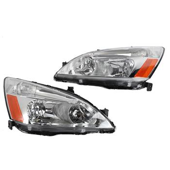 2pcs Front Left Right Headlights for Honda Accord 2003-2007