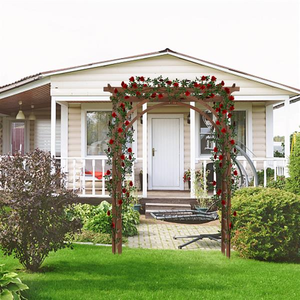 Beautiful And Practical Garden Arch Dark Brown