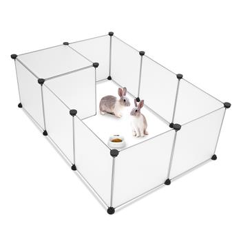 Pet Playpen, Portable Large Plastic Yard Fence Small Animals, Puppy Kennel Crate Fence Tent