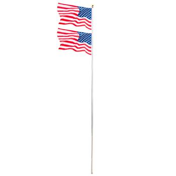 20ft Solemn Outdoor Decoration Sectional Halyard Pole US America Flag Flagpole Kit