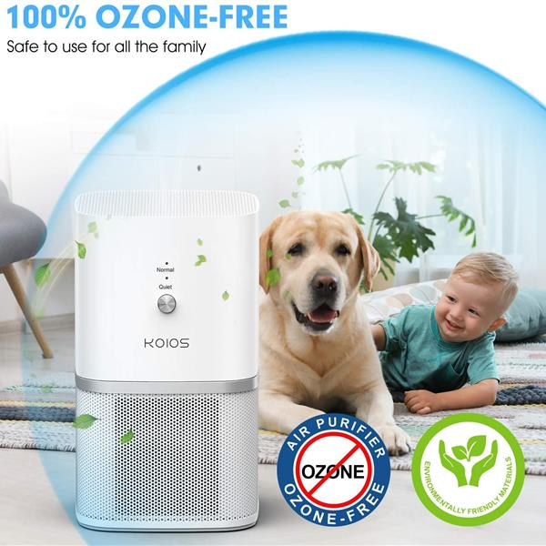 Ban on Amazon platform sales KOIOS Air Purifier, 3-in-1 True HEPA Air Purifier for Room & Office, Desktop Air Cleaner Compact Design, Super Quiet, Removing 99.97% Allergens