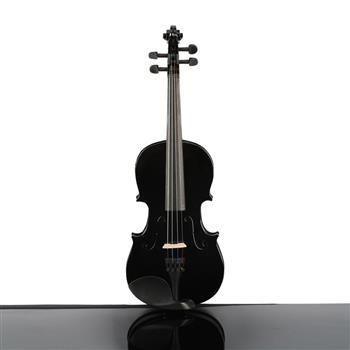 New 3/4 Acoustic Violin Case Bow Rosin Black