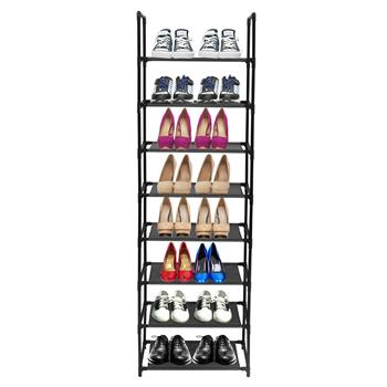 8 Tiers Shoe Rack Stainless Steel Frame Holds 16-20 Pairs Of Shoes