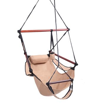Well-equipped S-shaped Hook High Strength Assembled Hanging Seat Cacolet Brown