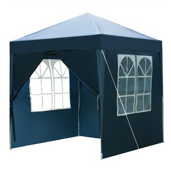2 x 2m Two Doors & Two Windows Practical Waterproof Right-Angle Folding Tent Blue
