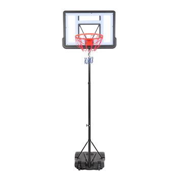【HY】HY-B03S Portable Removable Basketball System Basketball Hoop Teenager PVC Transparent Backboard with 1.6m-2.1m Adjustable-Height Pole Maximum Applicable 7# Ball