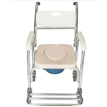 4 in 1 Multifunctional Aluminum Elder People Disabled People Pregnant Women Commode Chair Bath Chair White