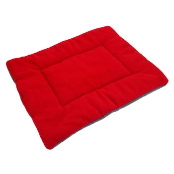 Washable Soft Comfortable Silk Wadding Bed Pad Mat Cushion for Pet Red Wine L