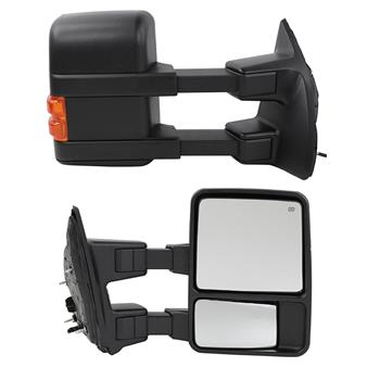 For 99-07 Ford F250 SuperDuty Truck Power Heat Amber Singal Lamp Towing Mirrors