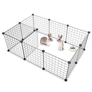 Pet Playpen, Small Animal Cage Indoor Portable Metal Wire Yard Fence for Small Animals, Guinea Pigs, Rabbits Kennel Crate Fence Tent