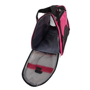 Hollow-out Portable Breathable Waterproof Pet Handbag Rose Red S