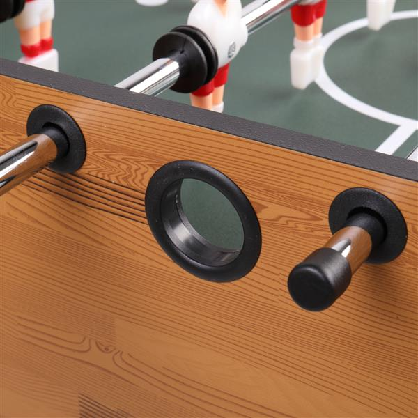 Pexmor 48 Inch Football Table with Plastic Cup Holder, Log Color