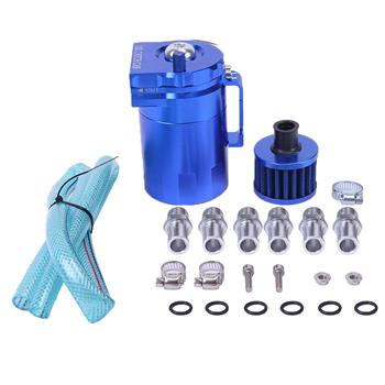 Round Oil Catch Tank Oil Catch Tank with Air Filter Blue
